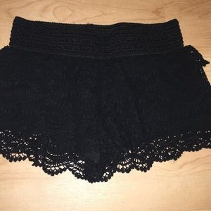Jolt Small black lace shorts